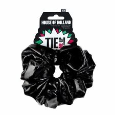 House of Holland Tie Me Up Hair PVC Scrunchie Large Black/Elegant/Touch/Band/NEW