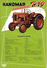 Hanomag Combitrac R19 Tractor original Sales Brochure In Swedish