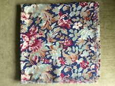 """Liberty vintage shawl/large wool scarf fringed vintage approx 48"""" square floral"""