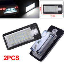 2xSMD 18 LED Number License Plate Lamp White Light for Audi A3 S3 A4 A6 B6 B7 Q7