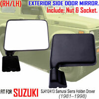 DAIHATSU HIJET SPARCAR S 65 66 76 FOR BLACK SIDE DOOR MIRROR RH//LH SQUARE MANUAL