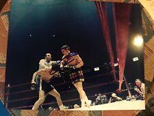 Ken Buchanan v Roberto Duran Signed Photo. Boxing Memorabilia Autograph