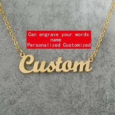 Personalized Custom Any Name Choker Necklace 18K Gold Plated Handwriting Custom