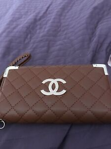 CC Tan Quilted Purse With Strap