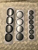 Black Silver Gray Circle Decals Wall Art Home Decor Office Wall Decal Sticker
