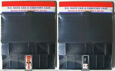 2pc 1972 Aurora AFX G+ G-PLUS HO 7 Slot Car BLACK PIT KIT Carded +Free Screecher