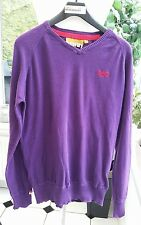 """SUPERDRY PURPLE JUMPER SIZE L Mens - 46"""" Chest. Some Wear hence price"""