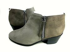 Soda Women's Uzona Two Tone Side Zip Bootie Taupe US Size 7 M New In Box