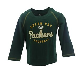 Green Bay Packers NFL Team Apparel Kids Youth Girls Size Long Sleeve Shirt New