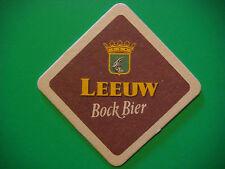 Beer Coaster Mat ~*~ LEEUW Bock Bier ~ Brewed by Haacht ~ Boortmeerbeek, Belgium