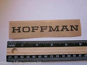 "5"" HOFFMAN BMX Ride XX Rack Car Ride Mountain Bicycle Bike Frame Sticker Decal"