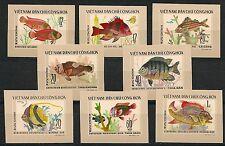 VIETNAM 1976 MiNr: 866 U - 873 U ** IMPERF TROPICAL FISH FISCHE SEA LIFE