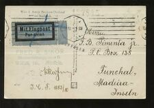 AUSTRIA 1929 PPC AIRMAIL MADEIRA 4 COLOUR FRANKING