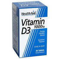Healthaid Vitamina D3 1000iu 30 VEGETAL PASTILLAS - HUESOS FUERTES Y SANOS
