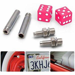 (4) Pink Dice Tire/Wheel Stem Air Valve CAPS covers set car truck hot rod ATV