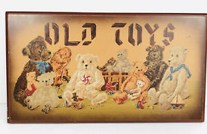 Tender Heart Treasures Ltd OLD TOYS Plaque Wall Decor Country Vintage Theme