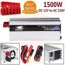 1500W Convertidor Modificado Seno Ola Poder Inversor Dc 12V A 220V C.A. USB NEW