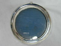 Vintage Art Deco sterling silver hanging picture frame circular 125mm 1927