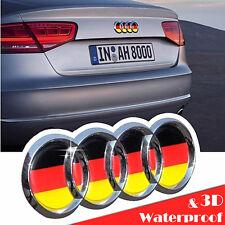 Audi Germany Flag 3D Emblem Badge Sticker A3 A4L A8 Q5 A6L A5 TT Logo Refit Trun