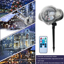 Snow Falling LED Laser Projector Light Christmas Snowflakes Night Lamp Party Dec