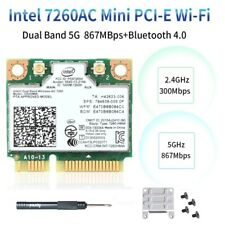 Intel Wireless-AC 7260HMW Network Card Half Mini PCIe Wifi Card Bluetooth 4.0