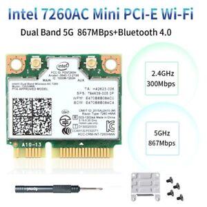 Intel Wireless-AC 7260 7260HMW Mini PCIE WiFi Card PC 802.11ac Bluetooth Adapter