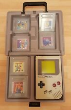 ORIGINAL NINTENDO GAME BOY WITH SIX GAMES AND CARRY CASE