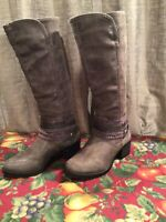 SO AUTHENTIC ANERICAN HERITAGE WOMEN'S KNEE HIGH BOOTS BRUSHED GRAY SIZE 7.5 M