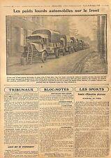 Trucks Camions Poids Lourds Armée Française Bataille de la Marne WWI 1915