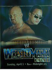 WWE WRESTLEMANIA16/STING 2 SIDED CARDBOARD POSTER