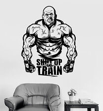 Vinyl Wall Decal Gym Motivation Quote Muscled Fitness Sports Stickers (ig3955)