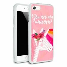 You are my Unicorn Flowers Rainbow Horn Hybrid Rubber Bumper iPhone 7 and 7 Plus