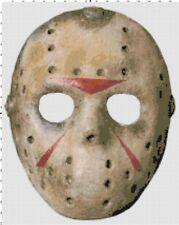 Friday the 13th Jason Mask DIGITAL Counted Cross-Stitch Pattern Chart