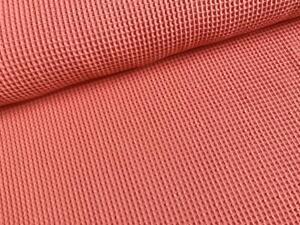 WAFFELPIQUE melone koralle lachs ** 1 Meter ** 152 cm breit ** reine Baumwolle