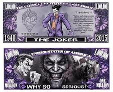 The JOKER Dans BATMAN. Million Dollar USA . Billet de commémoration / Collection