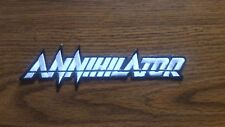 ANNIHILATOR,IRON ON WHITE EMBROIDERED PATCH