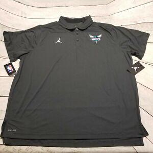 Nike Air Jordan Jumpman Coaches Polo Charlotte Hornets Men's Size 3XL 877616 060