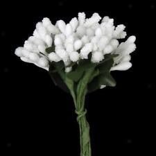 144 Mini Flower Stamen Beads Buds Sugarcraft Cake Gift Box DIY Decor White