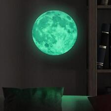 3D Luminous Glow in the Dark Moon Wall Stickers Home Art Decor Kids Room LI