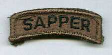 Sapper Tab Subdued Color - Army Engineer Tab Ssi