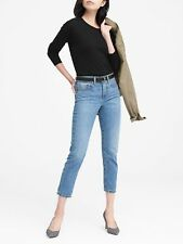 NWT Banana Republic Cotton Blend Pointelle Crew-Neck Sweater. Black. Small