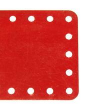 Meccano parte 192 ranuras flexibles placa 5x11 Hole no mediados Rojo Original