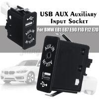 Car USB AUX Auxiliary Input Socket For BMW E81 E87 E90 F10 F12 E70  z