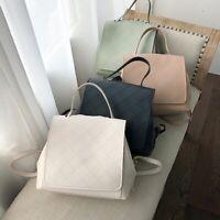 Women's Faux Leather Raw Edge Backpack Rucksack Daypack Travel Bag Cute Purse