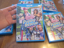 Barbie & Her Sisters Puppy Rescue Nintendo Wii U COMPLETE LIKE NEW HARD TO FIND