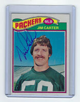 1977 PACKERS Jim Carter signed card Topps #287 AUTO Autographed Green Bay