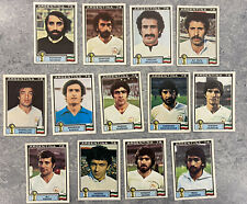 13 ORIGINAL 1978 PANINI ARGENTINA 78 UNUSED IRAN  STICKERS ARG-901 World Cup