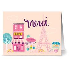 24 Note Cards - Merci Cafe - Hot Pink Envs