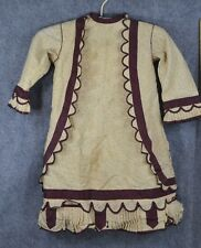 dress child girl Civil War Era cotton handmade early antique original 1850