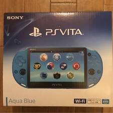PlayStation PS Vita Wi-Fi Console Aqua Blue game PCH-2000ZA23 Japan Free Ship